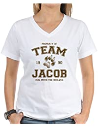 Twilight Team Jacob - Womens Cotton V-Neck T-shirt