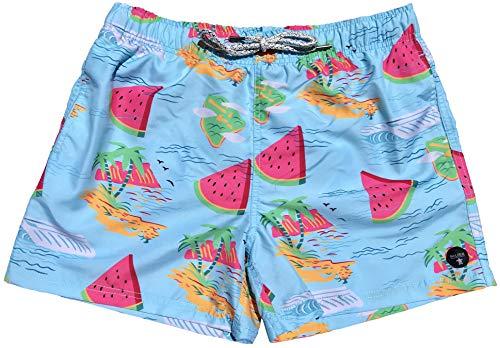 (Official Molokai Mens Swim Trunks Quick Dry Elastic Waist Drawstring (Watermelons, Medium))