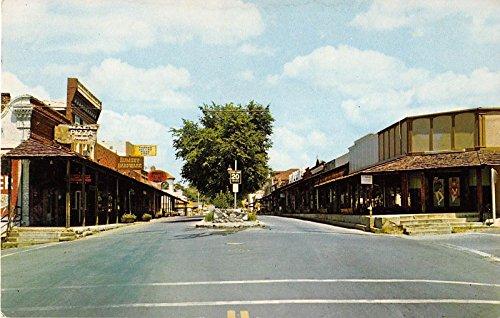 Folsom California Sutter Street Gas Lit Mall General View Postcard - Folsom Mall
