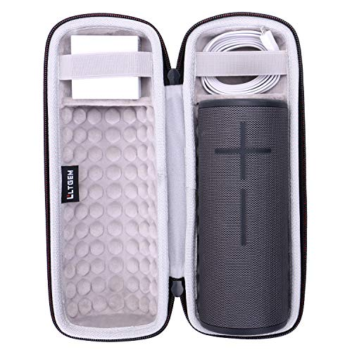 LTGEM EVA Hard Case for Ultimate Ears Boom 3 Portable Bluetooth Wireless Speaker (Fits Charger and USB Cable)