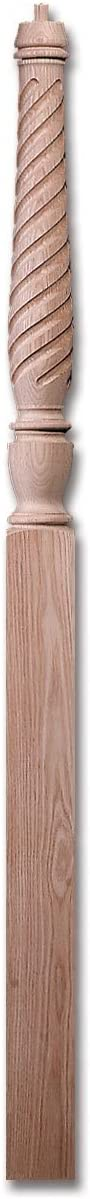 "#4410T Red Oak Carolina Pin Top Twisted 3-1/2"" x 60"""