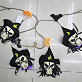 Labu Store Halloween Decoration Hanging Bat Skull Halloween Props Haunted House Bar KTV Yard Scary Decor