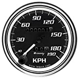 "Equus 7079 3-3/8"" Chrome 190 KPH Mechanical Speedometer"