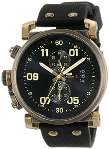 Vestal Unisex OBCS007 USS Observer Chrono Black Antique Gold Watch