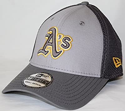 MLB Oakland Athletics Grayed Out NEO 39Thirty Stretch Fit Cap