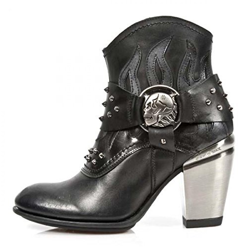 New Rock Støvler M.tx003-c1 Gotiske Hardrock Punk Dame Highheels Sort TxcqQOI