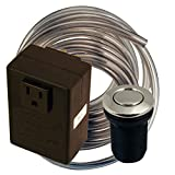 Westbrass Disposal Air Switch and Single Outlet Control Box, Polished Nickel, ASB-05