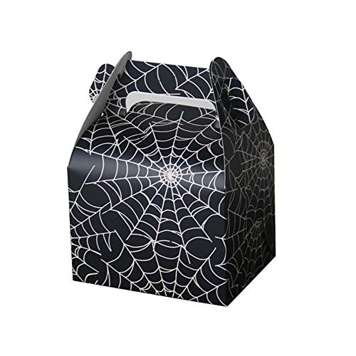 E-Goal Spiderweb Favor Candy Boxes Treat Boxes Gift Box for Halloween Party, Birthday Decoration, 50Pcs/Pack ()