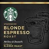 Starbucks Medium Roast Brewed Coffee Single-Serve Verismo Pods, Blonde Espresso, 72 Count