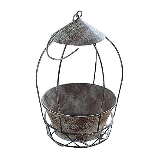 Jaula de hierro para pájaros estilo europeo retro para colgar en ...