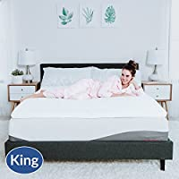 Modway Relax 2 inch King Gel-Infused Cooling Certi-PUR US Certified Memory Foam Mattress Topper