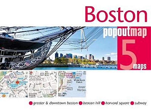 Boston Subway Map Harvard Square.Boston Popout Map Popout Maps Harvard Book Store