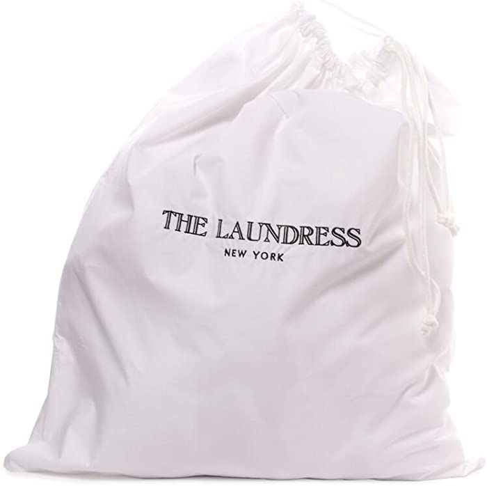 The Laundress - Hotel Laundry Bag, Drawstring Bag for Laundry, Travel Laundry Bag, Laundry Hamper Bag, Clothing Storage Bag, Home, Travel & Gym, Machine Washable