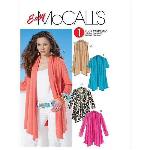 McCall's Patterns M6084 Misses' Cardigans, Size ZZ (LRG-XLG-XXL) (Cardigan Sewing Patterns)
