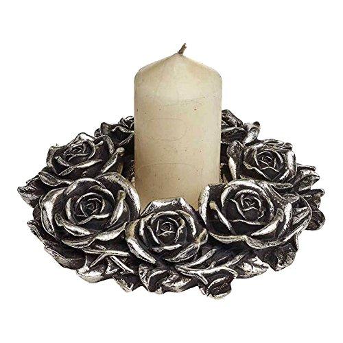 The Vault Alchemy of England Halloween Party Celebration Black Rose Wreath ()