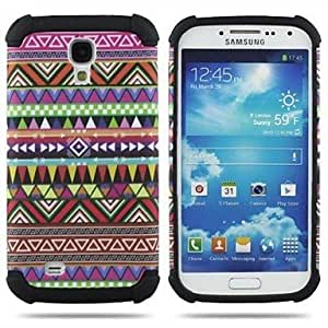 PEACH 2 in 1 National Totem Camo Hard Case With Tribe Pattern for Galaxy SIV S4 I9500 , 6