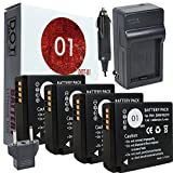 DOT-01 4X Brand Panasonic Lumix DC-ZS70 Batteries and Charger for Panasonic Lumix DC-ZS70 4K Digital Camera and Panasonic ZS70 Battery and Charger Bundle for Panasonic BLG10 DMW-BLG10