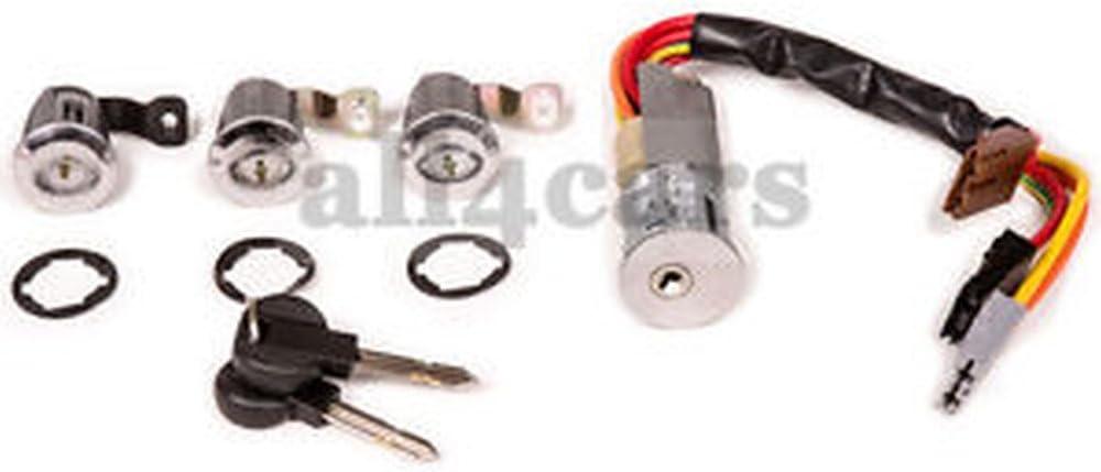 Citroen Berlingo Peugeot Partner puerta Lock barriles con cables de encendido y llaves: Amazon.es: Coche y moto