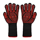 Best Grill Gloves - BBQ Grill Gloves, 1472°F(800°C) Extreme Heat Resistant Non-slip Review