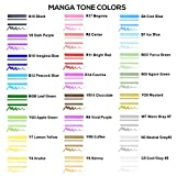 24 Color Super Markers Primary Manga Tones Dual Tip Set - Double-Ended Permanent Art Markers with Fine Bullet and Chisel Point Tips - Ergonomic Tri-Oval Barrels - Illustration, Sketch Comics, Anime