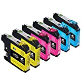 Color Pack Compatible Ink Cartridge Replacement for 203 203XL works with MFC-J4320DW MFC-J4420DW MFC-J4620DW MFC-J5520DW MFC-J5620DW MFC-J5720DW MFC-J480DW J485DW J460DW J880DW J680DW