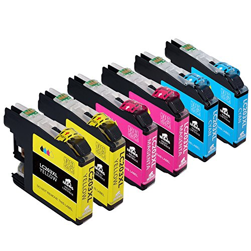 Color Pack Compatible Ink Cartridge Replacement for Brother 203 203XL works with Brother MFC-J4320DW MFC-J4420DW MFC-J4620DW MFC-J5520DW MFC-J5620DW MFC-J5720DW MFC-J480DW J485DW J460DW J880DW J680DW (Color Brother Ink)