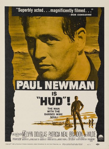 Amazon com: Hud Poster Movie D 27x40 Paul Newman Melvyn