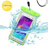 waterproof phone case for lg g3 - Waterproof Sports Lightning Case Bag Pouch (with Lanyard) for LG V30/ V30+/ G6/ G6+/ G5/ G4/ G3/ G2/ V20/ V10/ Stylo 3/ K20V/ X Charge/ Q6/ Aristo/ Q8/ Stylo 3 Plus (Green) + MND Mini Stylus