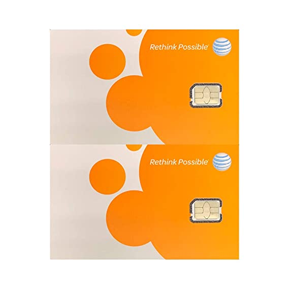 (2 Pack) Authentic AT&T ATT SIM Card Nano GSM 4G/3G/2G LTE Prepaid/Postpaid  Starter Kit Unactivated Talk Text Data & Hotspot