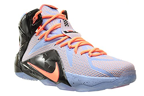 promo code 75e18 c50da Amazon.com   Nike Lebron XII Easter Mens  Shoes Aluminium Sunset Glow-Hot  Lava-Black 684593-488 (8.5 D(M) US)   Basketball