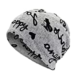 Hat for Baby Boy 3-6,Unisex Letter Print Scarf Beanie Cap Casaul Outdoor Convertible Windproof Hats,Aromatherapy Diffusers,Gary,One Size