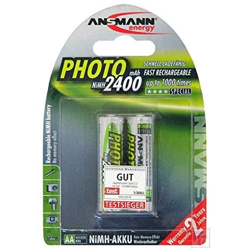 ANSMANN 1x2 NiMH rech. battery Mignon AA 2400 mAh PHOTO, 5030492 (Mignon AA 2400 mAh PHOTO)