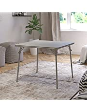 Flash Furniture Folding Card Table - Gray Foldable Card Table Square - Portable Table with Collapsible Legs