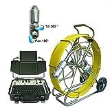 "GOWE 9mm rod Waterproof Snake Plumbing Sewer Inspection Camera with pan/tilt head Sensor Size:1/4"";Horizontal Resolution:700TVL; Signal System:PAL"