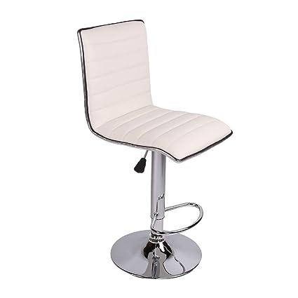 Pleasing Amazon Com Polar Aurora Set Of 2 Bar Stools Pu Leather Andrewgaddart Wooden Chair Designs For Living Room Andrewgaddartcom
