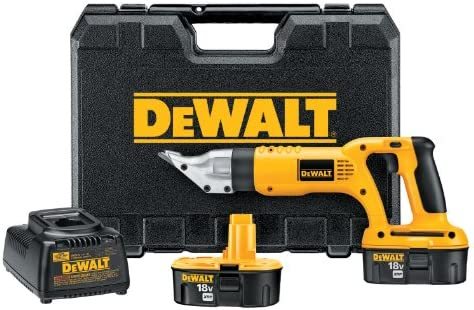 DEWALT DC490KA 18-Volt Cordless 18 Gauge Swivel Head Shear Kit