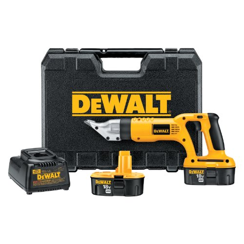DEWALT DC490KA 18-Volt Cordless 18 Gauge Swivel Head Shear Kit by DEWALT