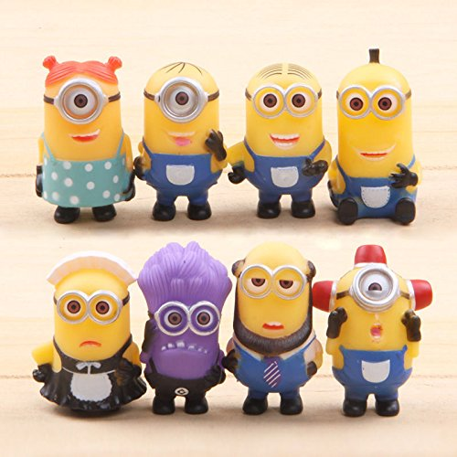 Set Of 8Pcs Cute Despicable Me 2 Minions Movie Character 2