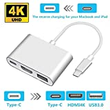 USB Type C to HDMI Adapter 4K - Newforshop USB 3.1 Type C Multiport HDMI Converter for MacBook, Chromebook Pixel Devices and More USB C Devices to HDTV/Projector