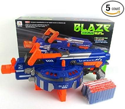 Hail-Fire Blaster, 48 bursts 4 clips Blaze Storm Big Toy Gun Soft Bullet