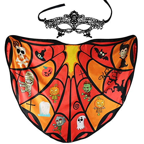 Flying Childhood Women Butterfly Wing Shawl Fairy Pixie Halloween Dress up Costume (Orange-red) ()