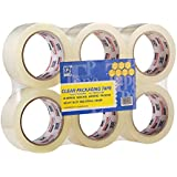 """Perfectape Heavy Duty Clear Packing Tape, 1.88""""x 60Y, 3 Inch Core, 6-Pack, Packaging Shipping Tape Refill Rolls for Moving, Mailing, Office and Storage"""