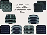 Stabilizer Pads by KP Base, 30 Piece Combo Kit, Home and Garden, Camping,Supports Levels and Protects