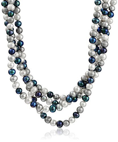 [6-7mm Multi-Color Genuine Cultured Freshwater High Luster Endless Pearl Strand, 100