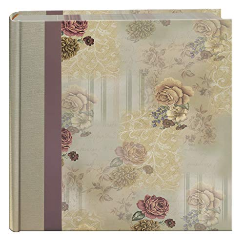 Pioneer Bella Fabric Ribbon Frame Bi-Directional Memo Frame Photo Album, Bella Fabric Covers, Holds 200 4x6