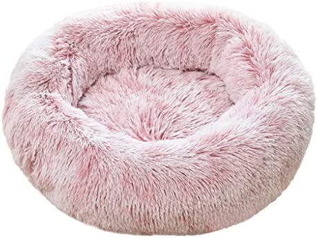 [해외]Pet Calming Bed Mosunx Cat and Dog Bed Luxury Shag Fuax Fur Donut Cuddler Round Donut Dog Beds Indoor Pillow Cuddler for Medium Small Dogs (S Pink) / Pet Calming Bed, Mosunx Cat and Dog Bed Luxury Shag Fuax Fur Donut Cuddler Round ...