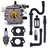 FitBest New Carburetor WT-194 with Fuel Line Oil Line Spark Plug Fuel Filter Oil Filter for Stihl 024 026 MS240 MS260 Chainsaws