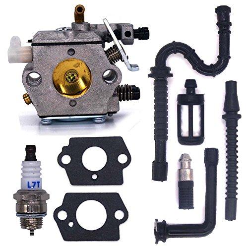 FitBest New Carburetor WT-194 with Fuel Line Oil Line Spark Plug Fuel Filter Oil Filter for Stihl 024 026 MS240 MS260 -