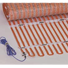 "AHT Flat Ribbon Floor Heating Mat 120V Size: 40"" x 5' (Can not be Cut). Over 30% Savings in Electrical Consumption due to Amorphous Metal Technology and Dense Ribbon Coverage."