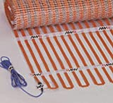 AHT Flat Ribbon Floor Heating Mat 120V Size: 40' x 5' (Can not be Cut). Over 30% Savings in Electrical Consumption due to Amorphous Metal Technology and Dense Ribbon Coverage.